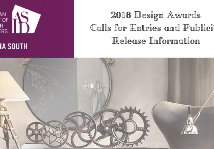 2018 Design Excellence Awards Call to Entries and Publicity Release Information is HERE